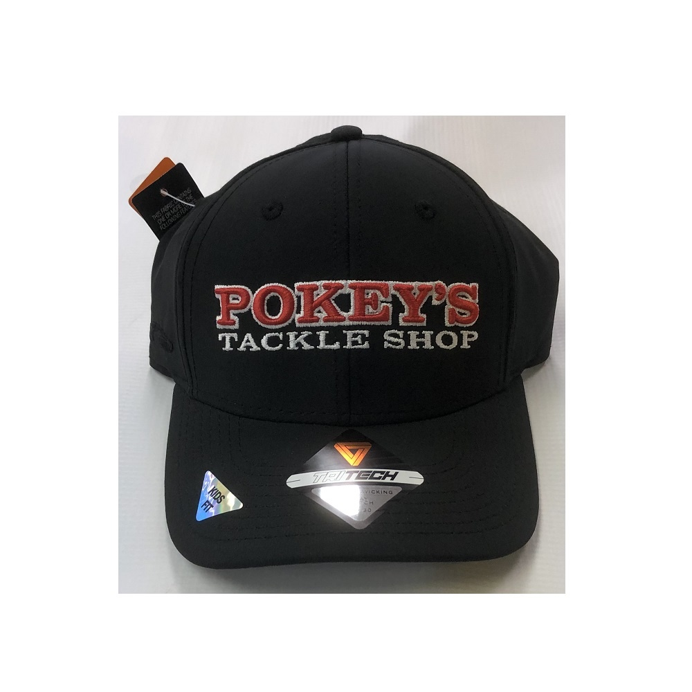 Pokey's Tackle Shop Pokey's Tritech Kids Hat Black
