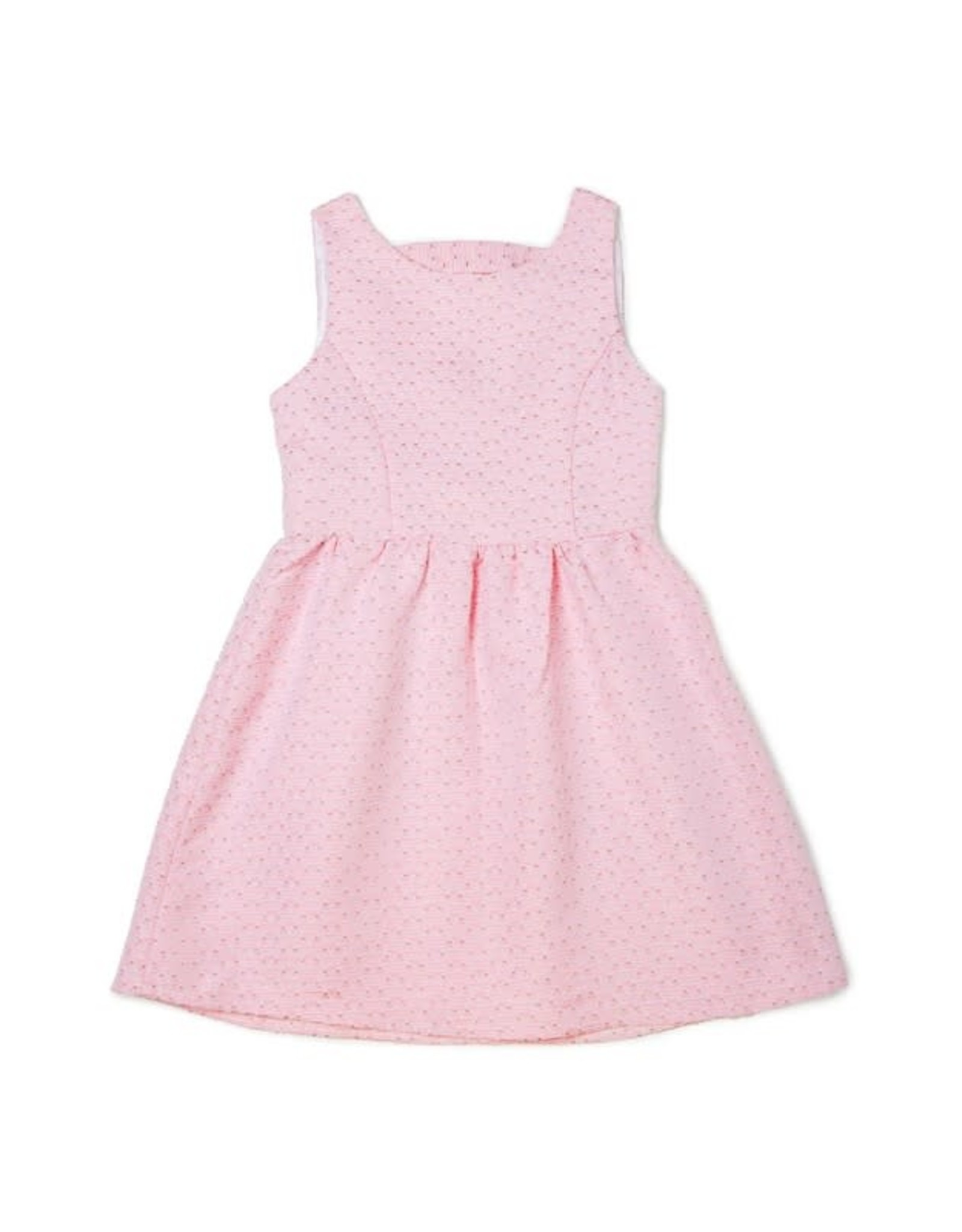 Baby Pink Triangle Bow-Tie Cutout Dress