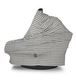 Covered Goods Covered Goods- Grey & Ivory Pinstripe