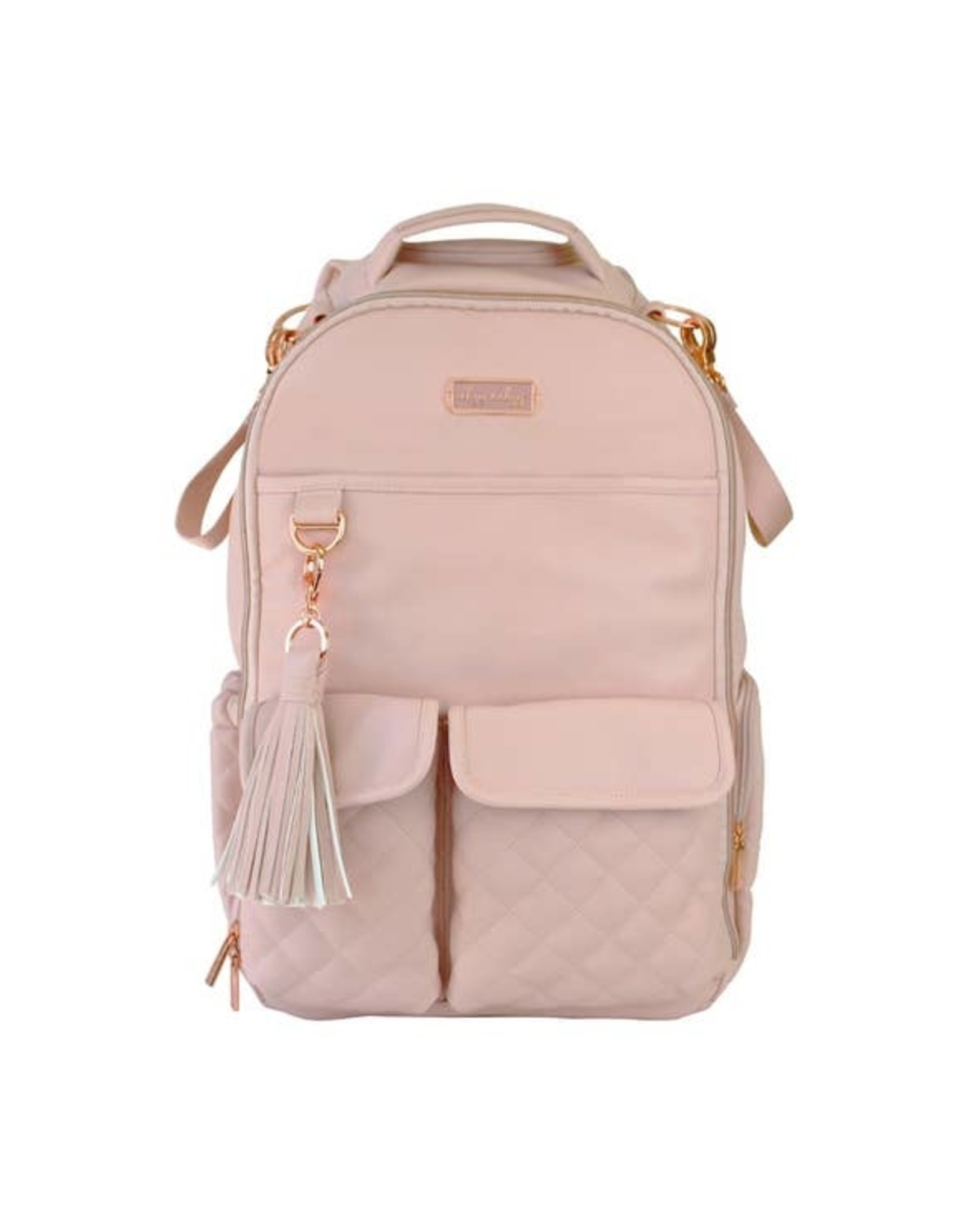Itzy Ritzy Itzy Ritzy - Boss Diaper Bag Backpack: Blush