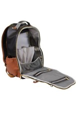 Itzy Ritzy Itzy Ritzy - Boss Diaper Bag Backpack: Coffee & Cream