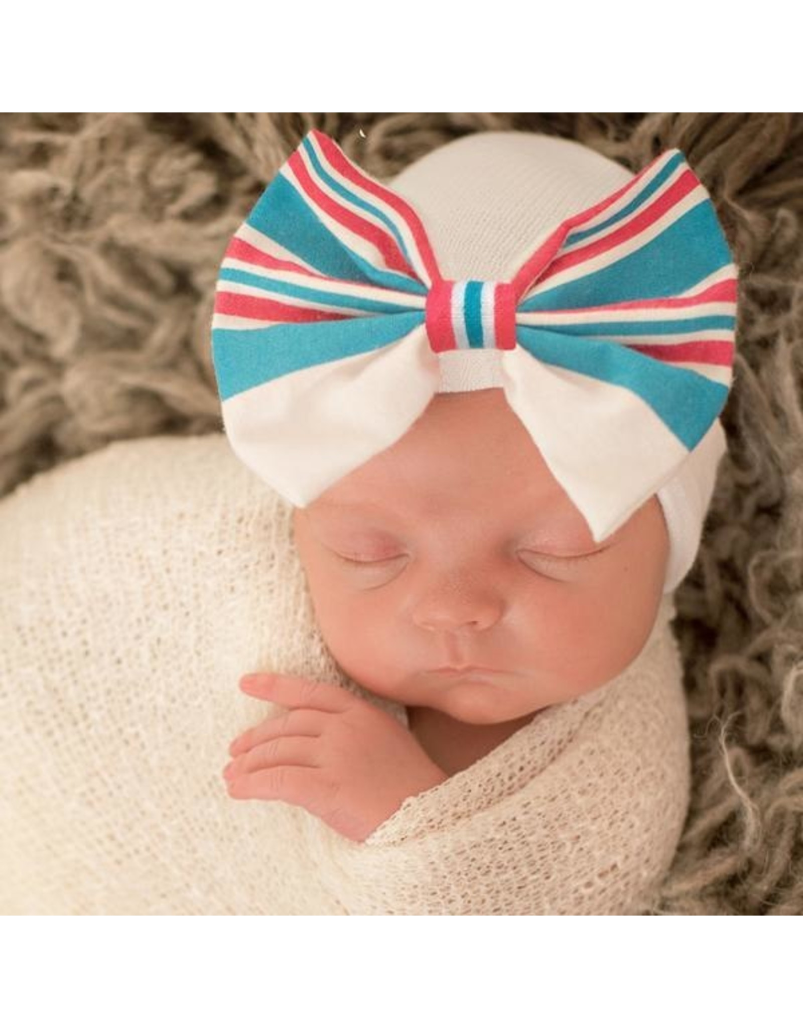 ILYBEAN Ilybean- Hospital Blanket Bow Nursery Beanie