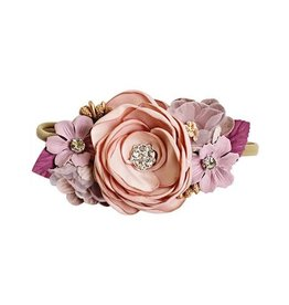 Baileys Blossoms Bailey's Blossoms - Mauve & Lavender Floral Stretch Headband