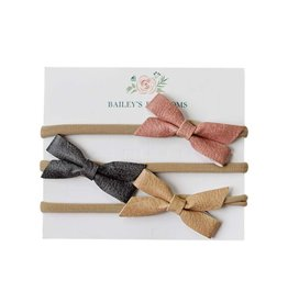 Baileys Blossoms Bailey's Blossoms - 3pc Hair Bow Headband Set