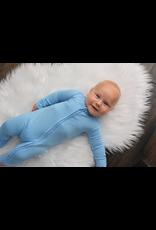Gigi & Max Gigi & Max - Baby Blue Footed Zip One Piece