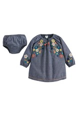 Mud Pie - Chambray Embroidery Dress & Bloomers