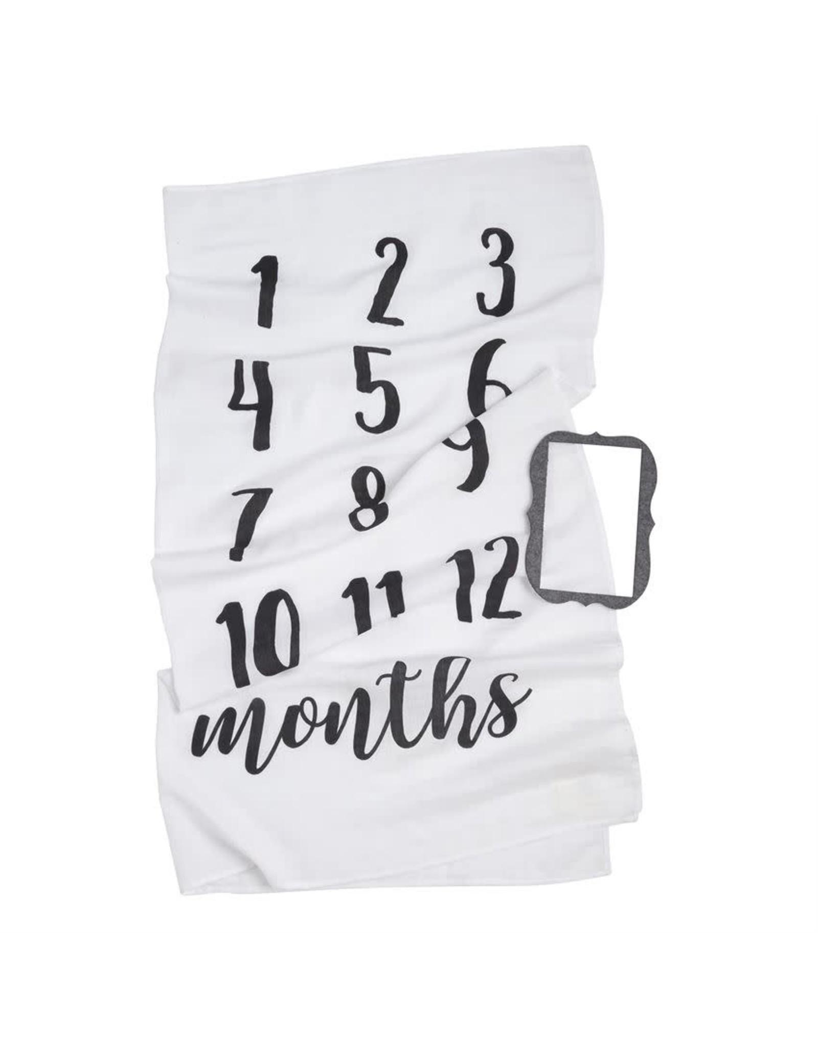 Mudpie Mud Pie - Monthly Milestone Blanket Set