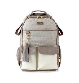Itzy Ritzy Itzy Ritzy - Boss Diaper Bag Backpack: Vanilla Latte
