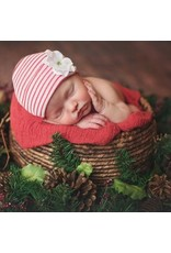 ILYBEAN Ily Bean- Striped Christmas Flower Newborn Hat
