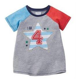 Mudpie Mud Pie- Boy 4 Birthday Shirt(4T)