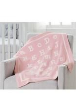 Mudpie Mud Pie- Pink ABC Chenille Blanket