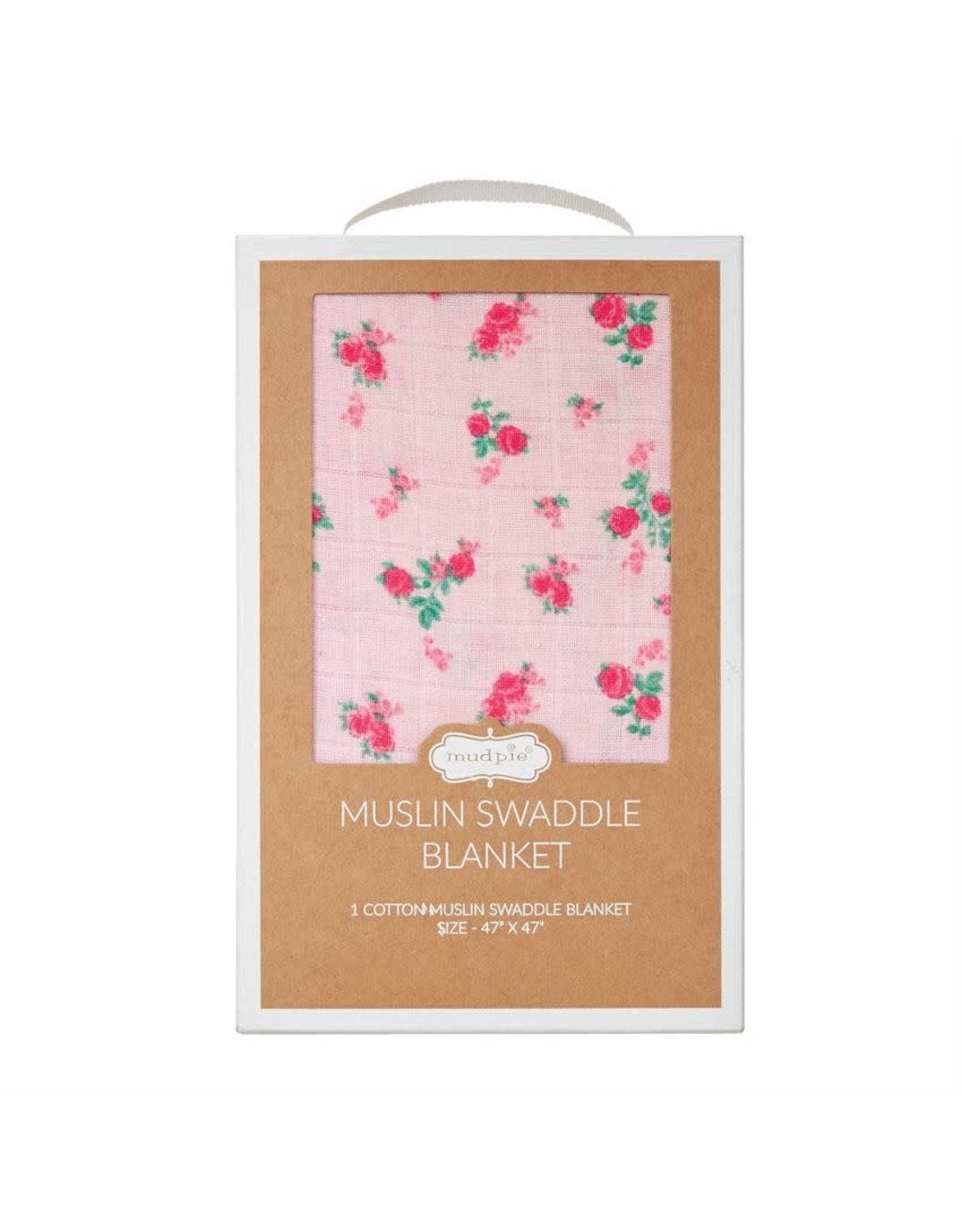 Mudpie Mud Pie- Rosie Muslin Swaddle Blanket