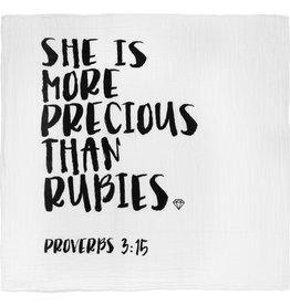 Modern Burlap Modern Burlap- Proverbs 22:6 She is more precious...Swaddle
