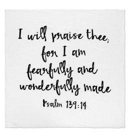 Modern Burlap Modern Burlap- Psalm 139:14 Swaddle