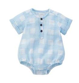 Mudpie Mud Pie- Light Blue Gingham Bubble