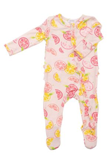Angel Dear Angel Dear- Citrus Ruffle Zipper Footie
