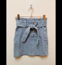 Sadie & Sage Sadie & Sage- No Doubts Stripe Denim Skirt