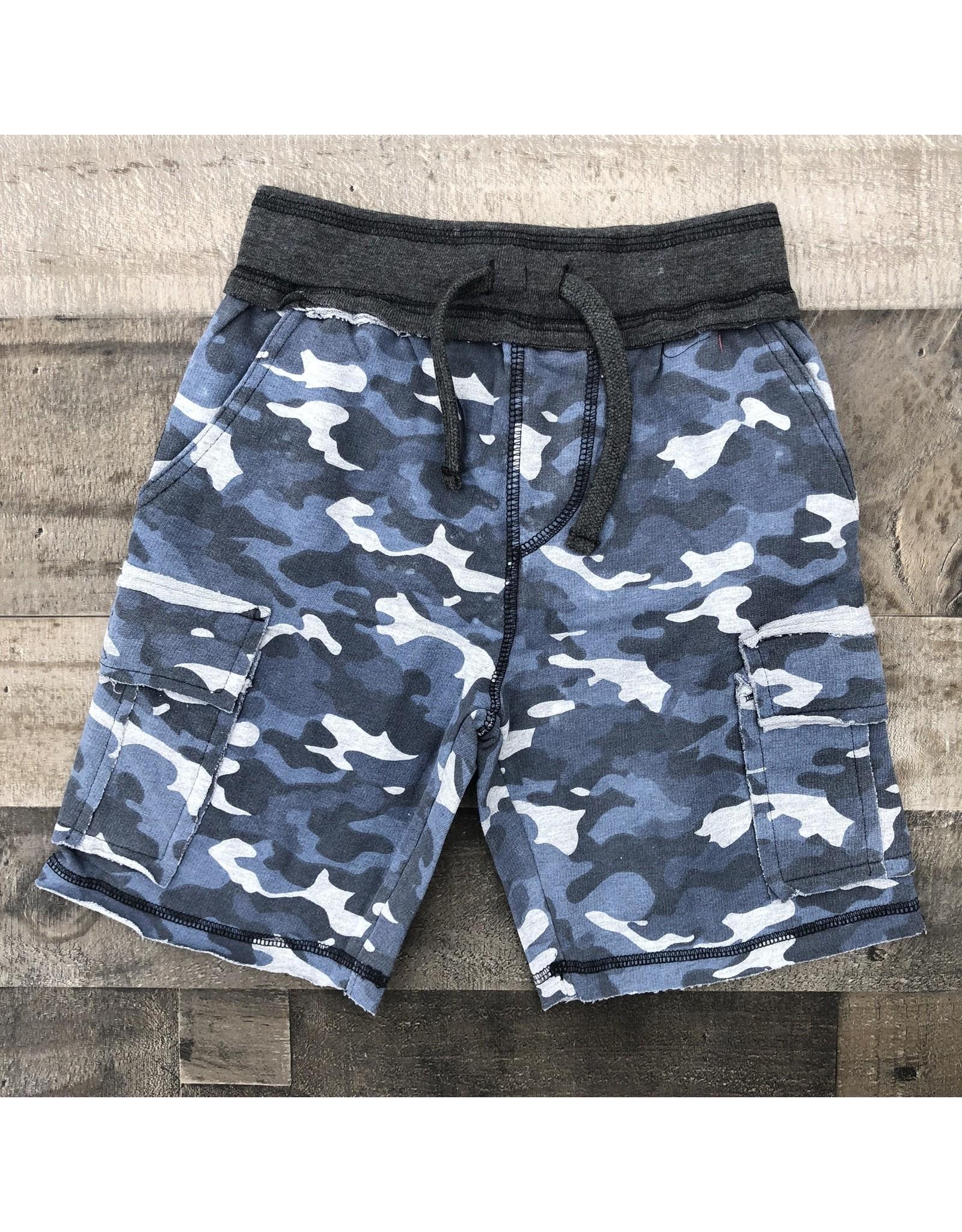 Mish Boys Mish Boys- Distressed Camo Shorts- Navy