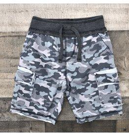 Mish Boys Mish Boys- Distressed Camo Shorts- Black