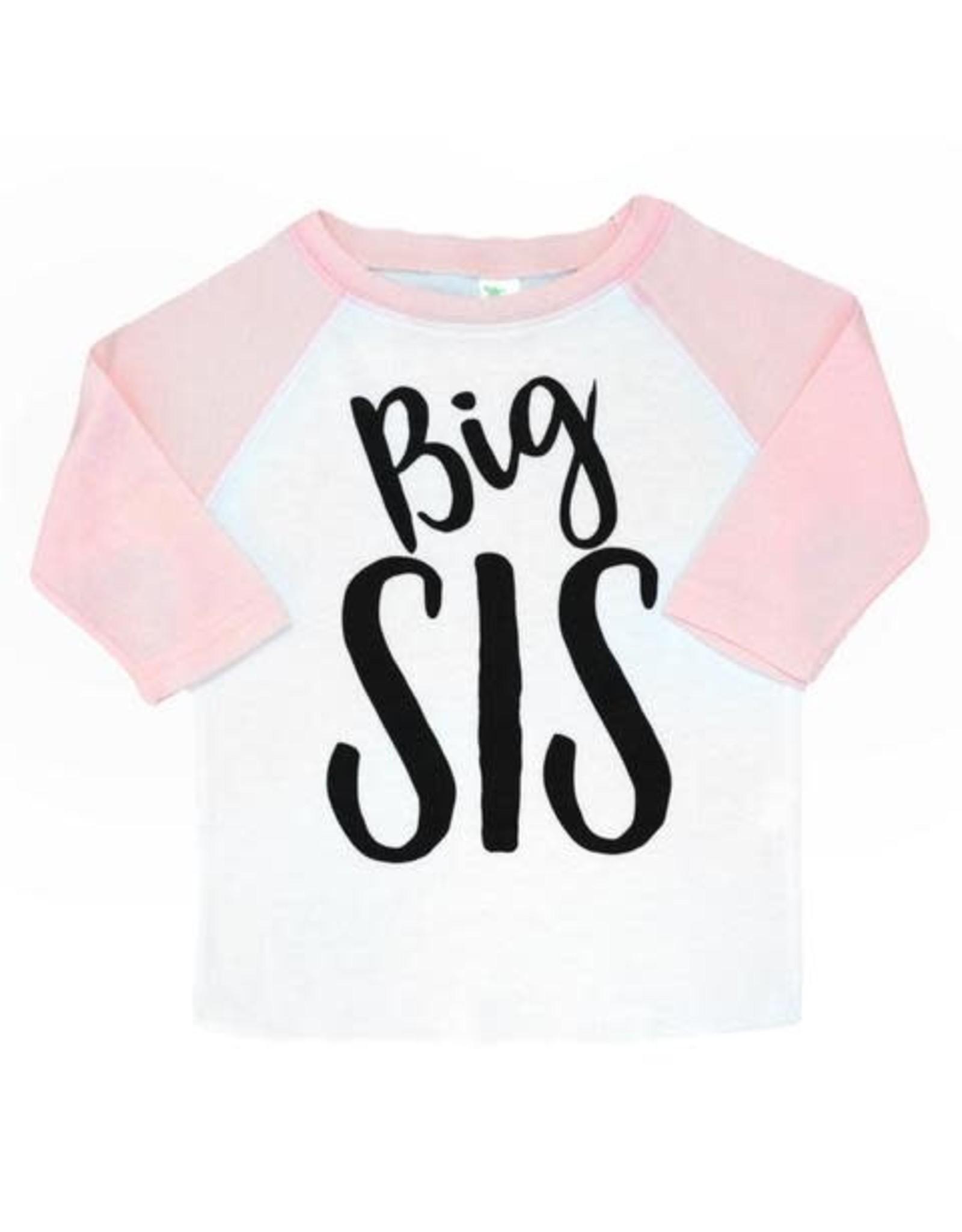Gigi & Max Gigi & Max - Big Sis Pink Sleeve Raglan