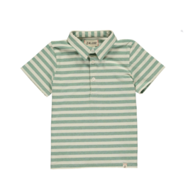 Me & Henry Me & Henry- Green/Cream Stripe Polo