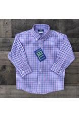 Cotton Blu- Pink & Blue Plaid Button Down
