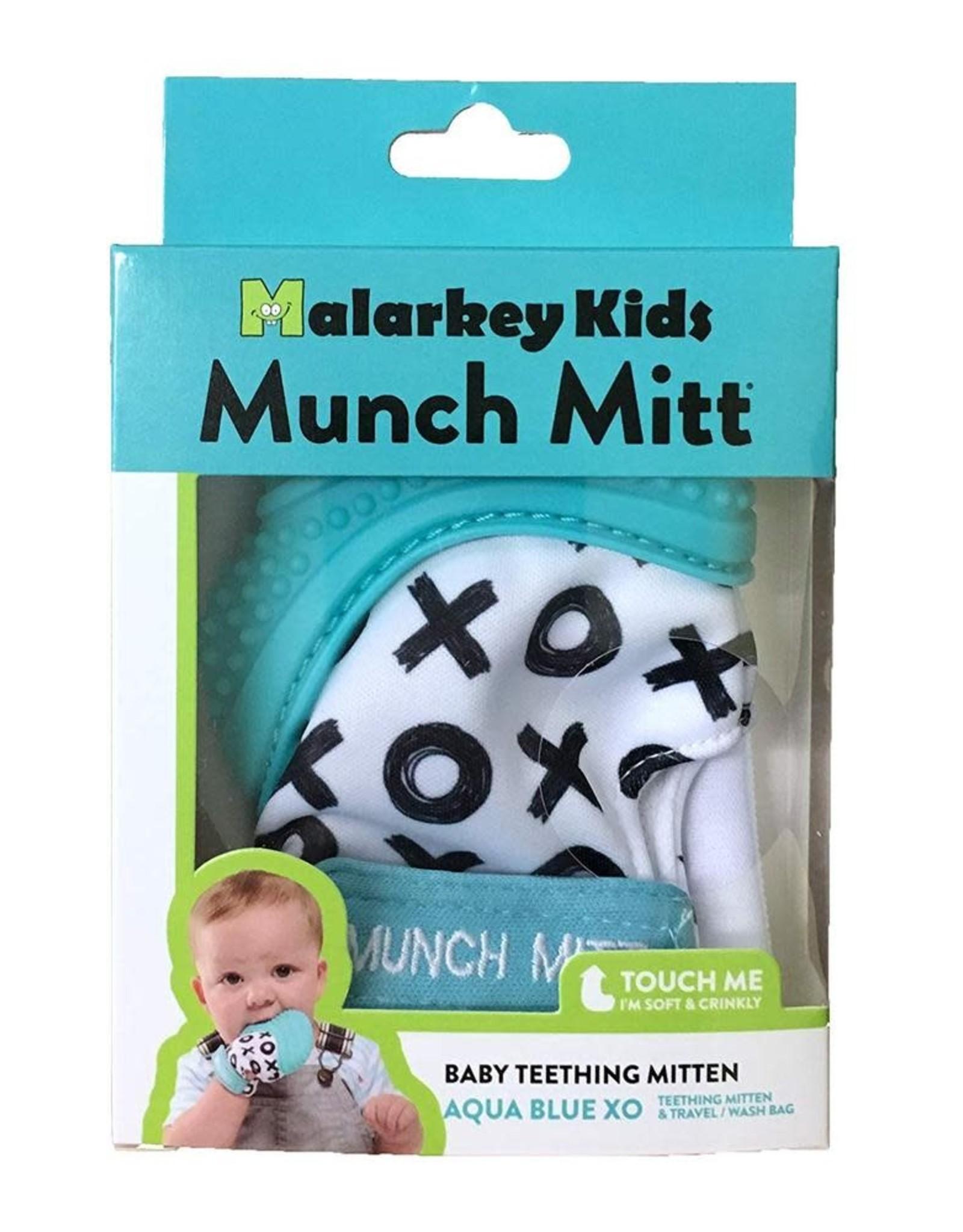 Malarkey Kids Malarkey Kids- Munch Mitt- Aqua/XO