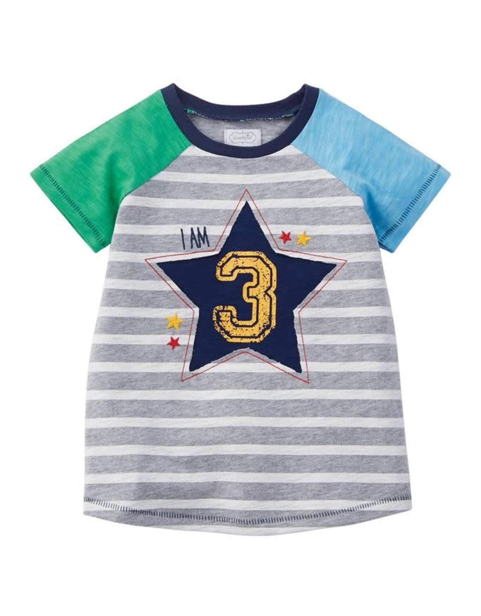 Mudpie Mud Pie- Boy 3 Birthday Shirt(3T)