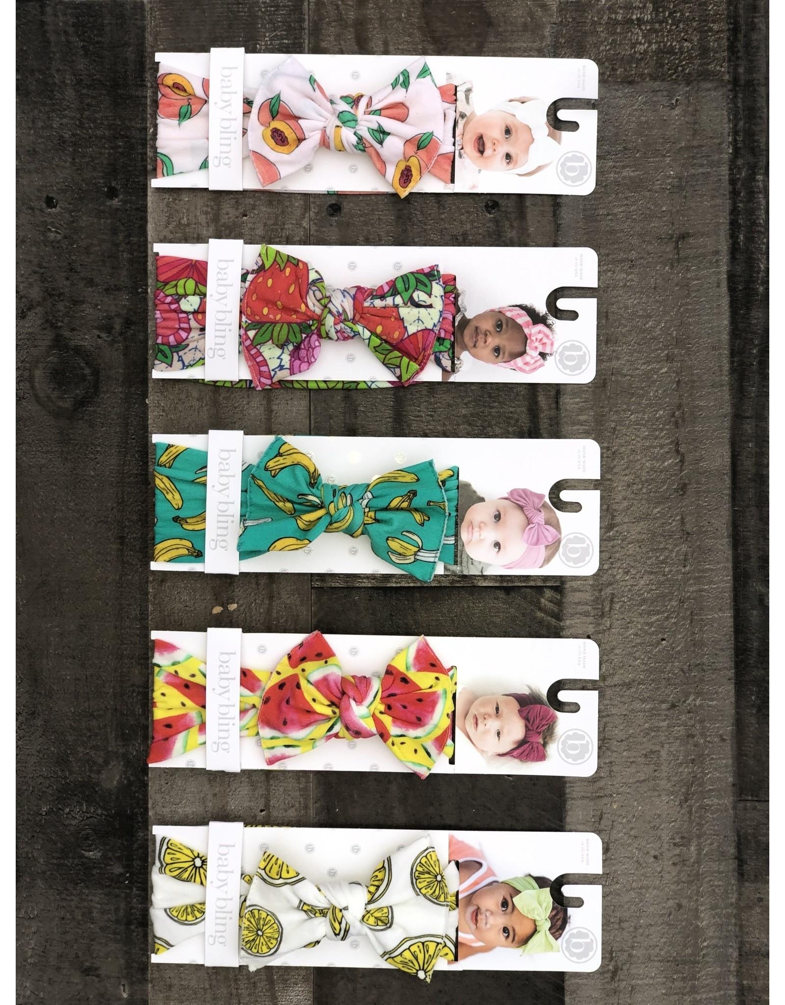 Baby Bling Baby Bling- Printed Knot: Spring Fruit