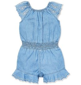 Little Me Little Me- Chambray Woven Romper