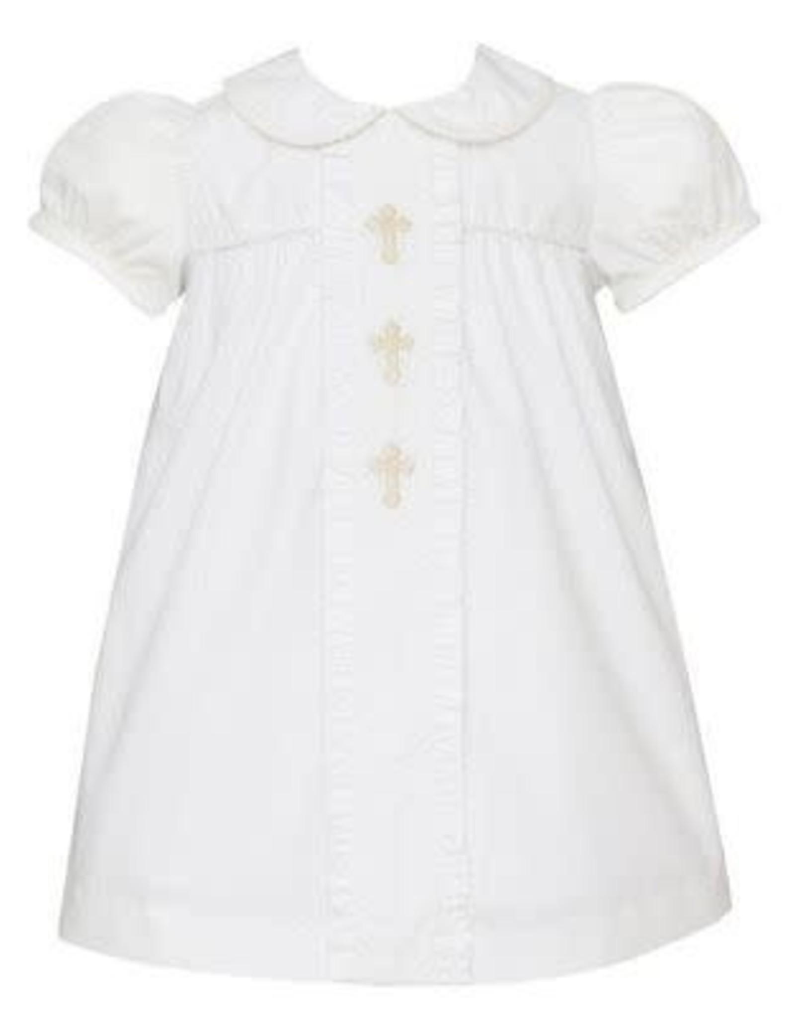 AN Crosses- Float w/White Collar- White Poplin
