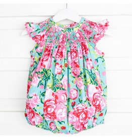 Three Sisters Three Sisters- Rose Delight Smocked Bubble