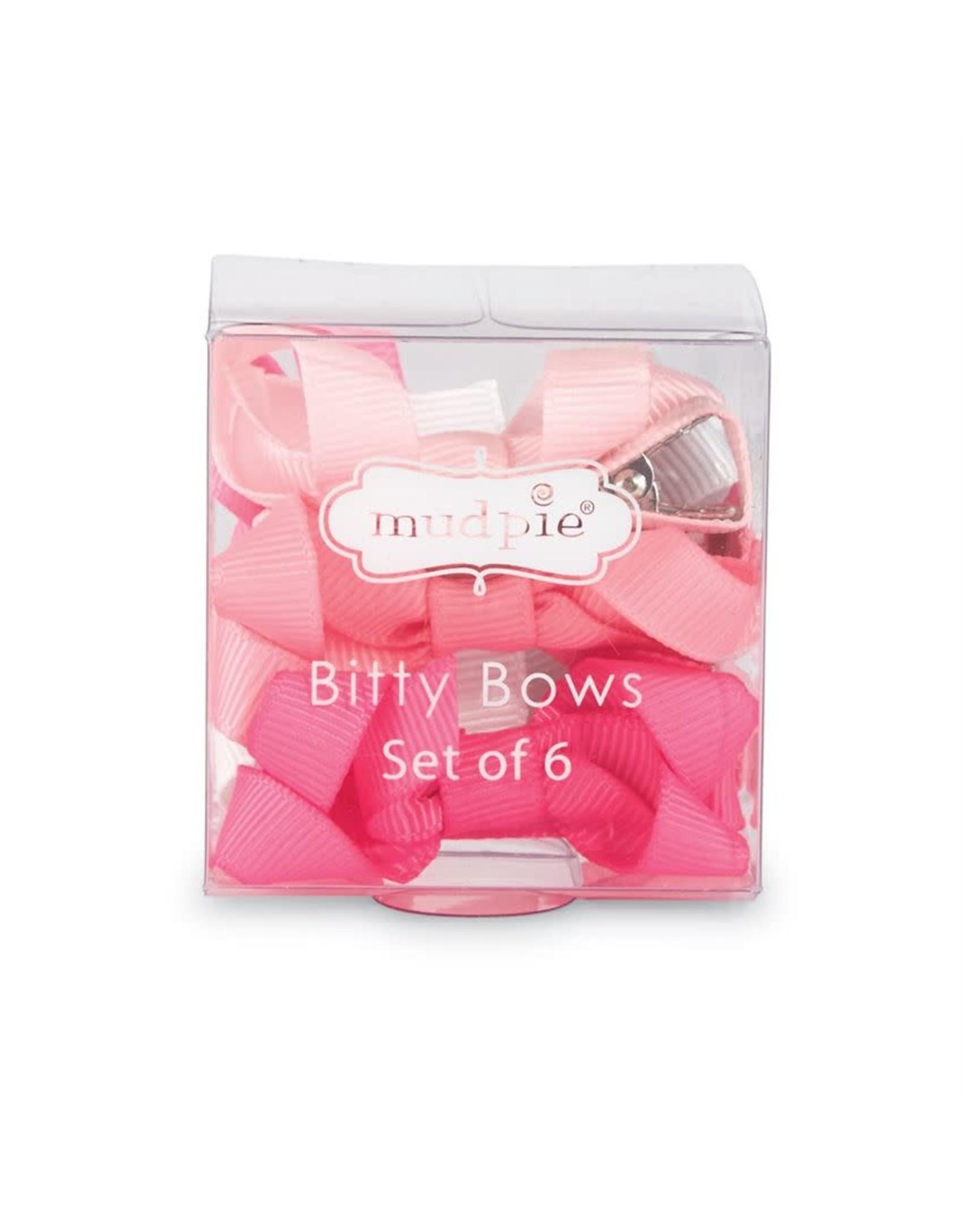 Mudpie Mud Pie- Pink Bitty Bow Set