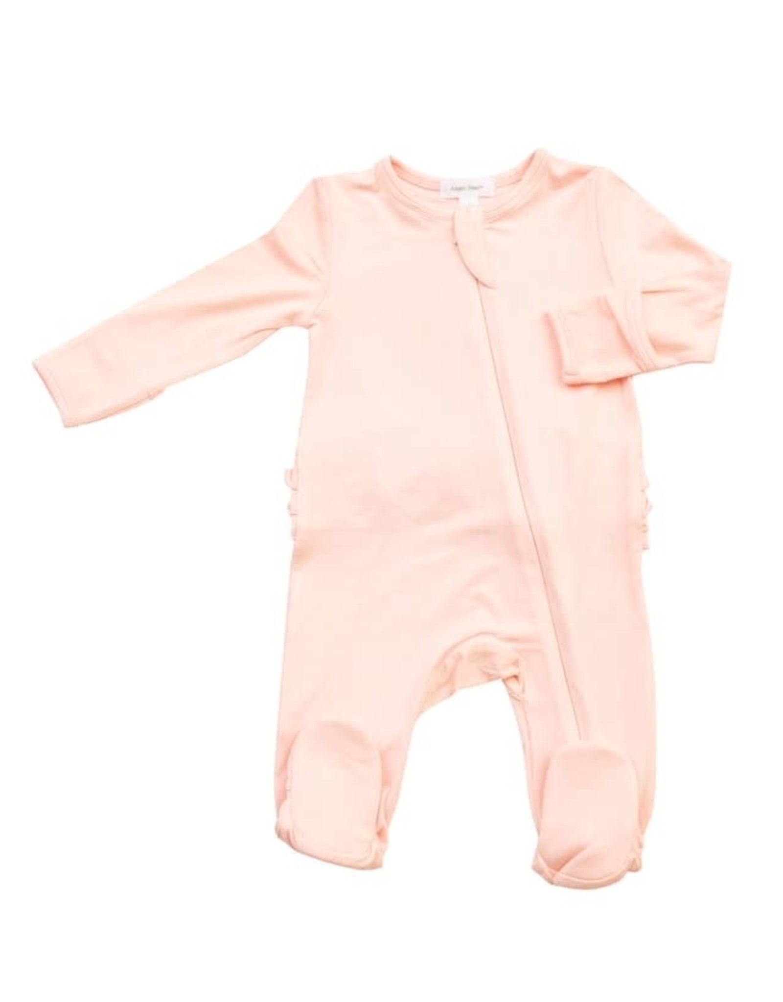 Angel Dear Angel Dear- Solid Pink Zipper Footie