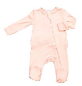 Angel Dear Angel Dear- Solid Pink Zipper Footie