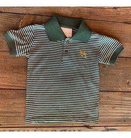 Two Feet Ahead Two Feet Ahead- Baylor Stripe Jersey Golf Shirt