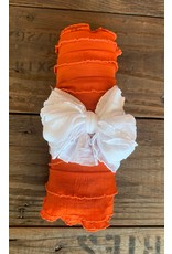 Rockin' Royalty RR- Newborn Ruffled Swaddle Wrap Set- Burnt Orange