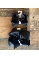 Beyond Creations Beyond Creations- Black Grosgrain Knot Bow