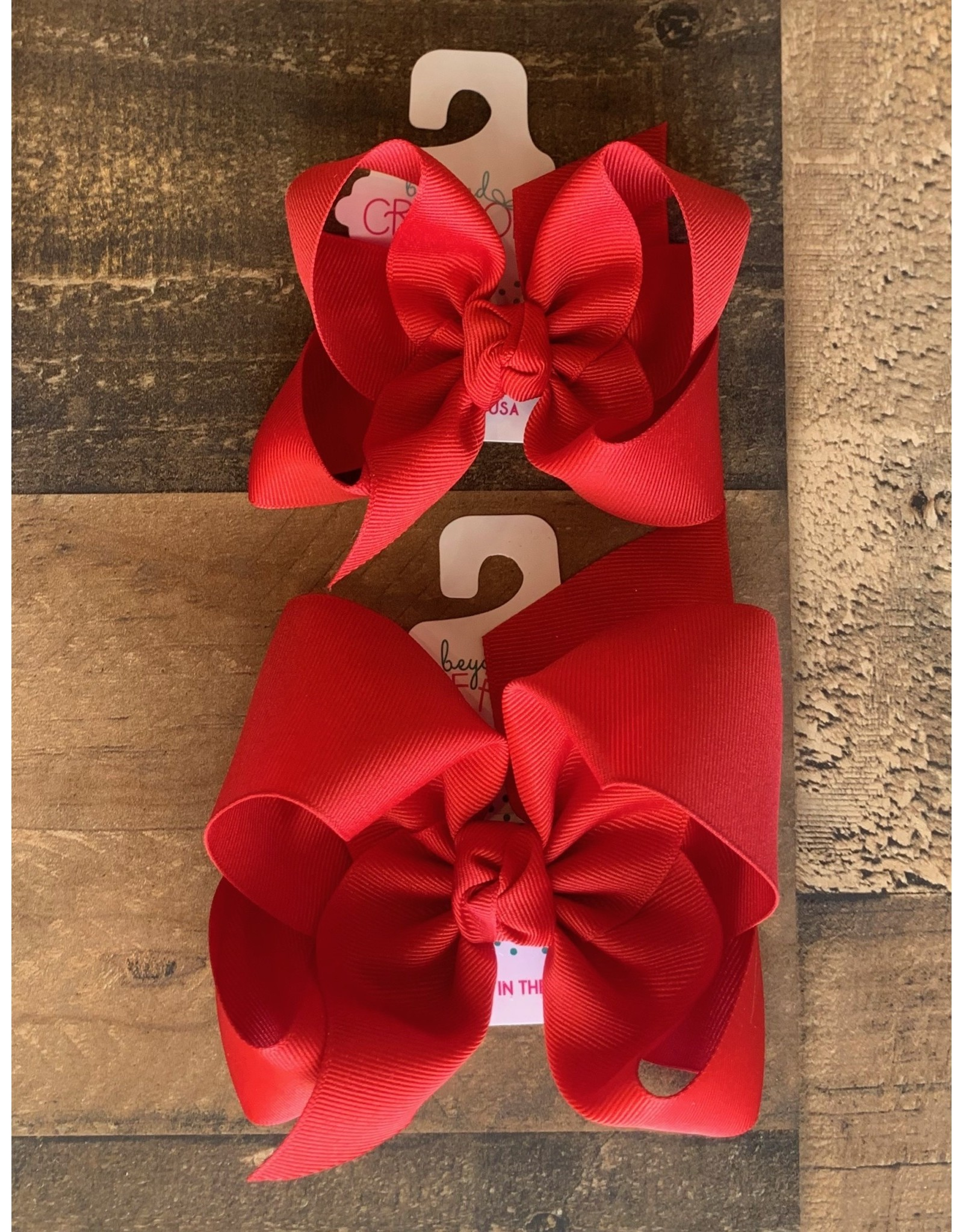 Beyond Creations Beyond Creations- Red Grosgrain Knot Bow
