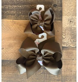 Beyond Creations Beyond Creations- Brown Grosgrain Knot Bow