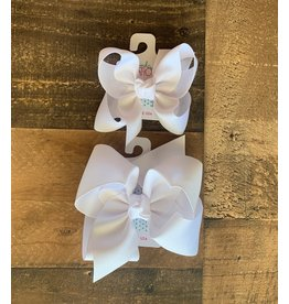 Beyond Creations Beyond Creations- White Grosgrain Knot Bow