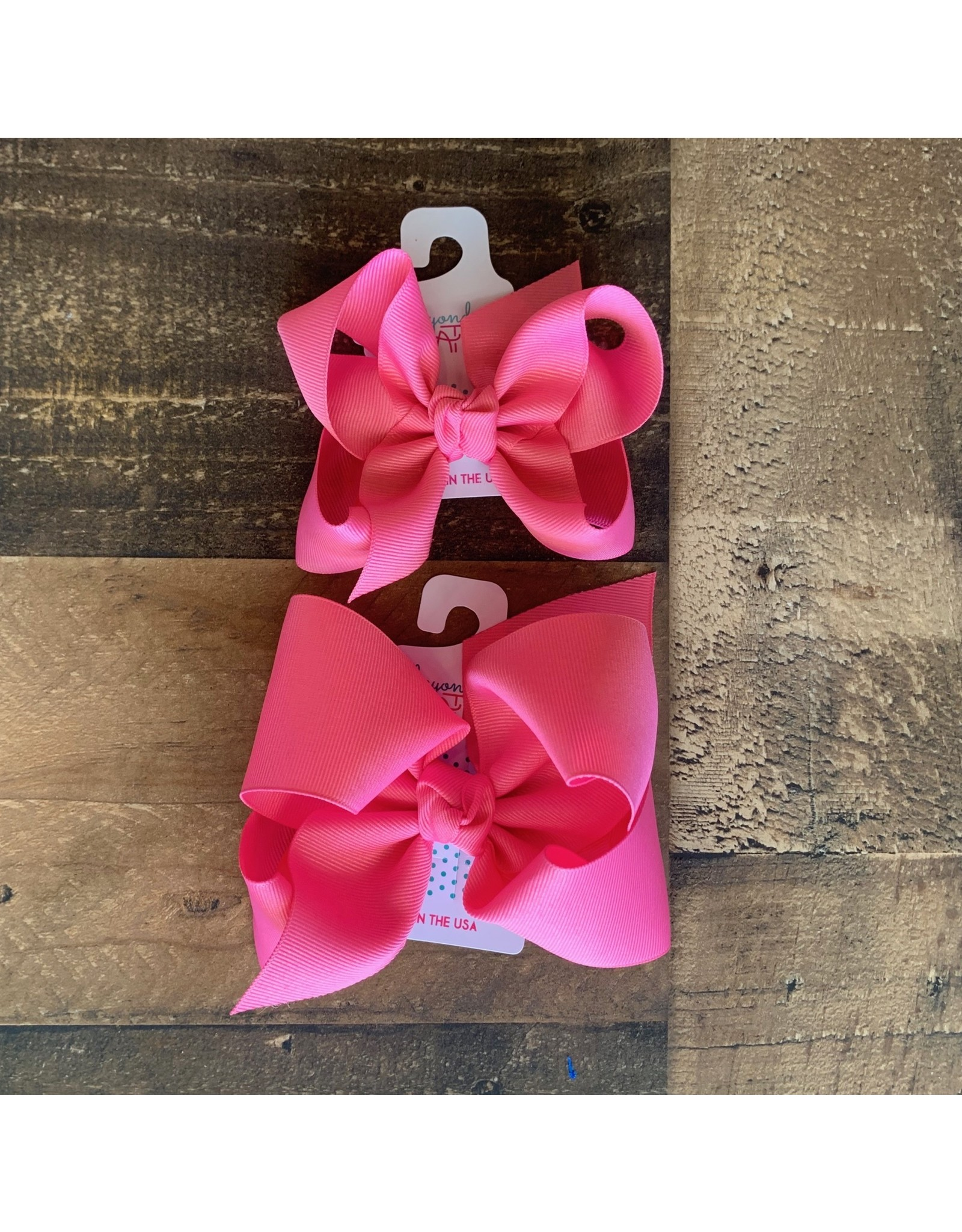 Beyond Creations Beyond Creations- Hot Pink Grosgrain Knot Bow