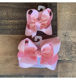 Beyond Creations Beyond Creations- Light Pink Grosgrain Knot Bow