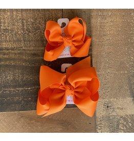 Beyond Creations Beyond Creations- Orange Grosgrain Knot Bow