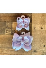 Beyond Creations Beyond Creations- Mist Powder Orchid Grosgrain Knot Bow