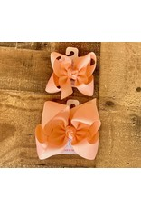 Beyond Creations Beyond Creations- Light Coral Grosgrain Knot Bow