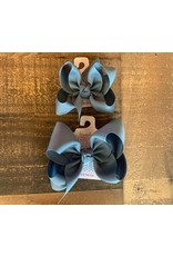 Beyond Creations Beyond Creations- Williamsburg Blue Grosgrain Knot Bow