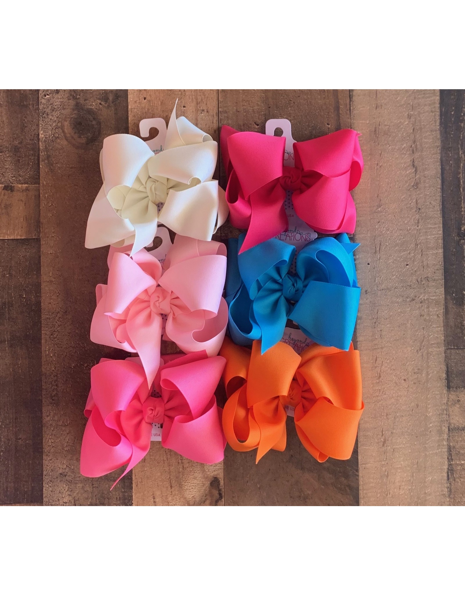 """Beyond Creations Beyond Creations- 5.5"""" XL Bow x 2.5"""" Multiloop Knot Bow"""