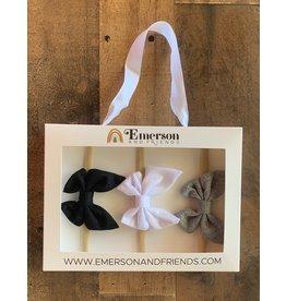 Emerson & Friends- Headband Gift Sets Black, White, Grey