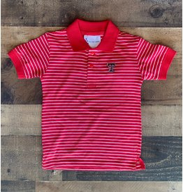 Two Feet Ahead- Tech Stripe Jersey Golf Shirt